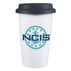 NCIS Anchor Logo Reuseable Travel Mug ShopTV ($20) ❤ liked on Polyvore
