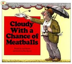 In the original book Cloudy With a Chance of Meatballs, the story unfolds as a tall tale told by an imaginative Grandpa.