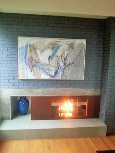 See-through fireplace - Broken Down Designs, Toronto See Through Fireplace, Toronto, Frame, Painting, Design, Home Decor, Art, Homemade Home Decor, Craft Art