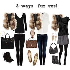 current obsession: fur vests!