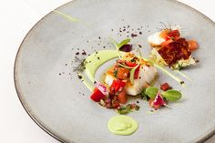 Icelandic Cod Recipe With Avocado & Chorizo - Great British Chefs Cod is paired with avocado and chorizo in this cod recipe from Icelandic chef, Agnar Sverrisson. Cod Recipes, Fish Recipes, Cooking Recipes, Salmon Recipes, Great British Chefs, Fish Dishes, Food Presentation, Food Plating, Gastronomia