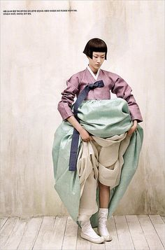 Hanbok, Korean traditional dress Vogue Korea photography by kim kyung-soo