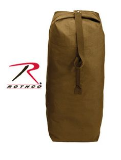 Top Load Military Canvas Duffel Bag Seabag 25x42 Made in USA Orange color