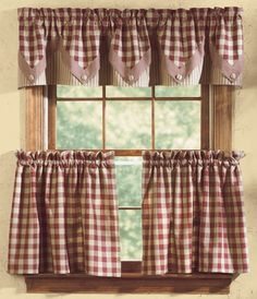 Check out the deal on York Wine 24 Inch Curtain Tiers at Primitive Home Decors