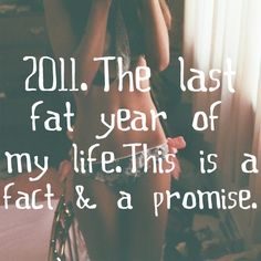 2011 The last fat year of my life