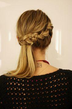 Trança lateral #braid #hairdo Helena_Bordon_Proenca