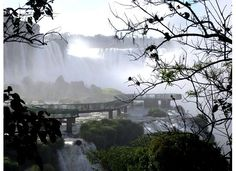 Iguazu Falls, Brazil. View of the platform. If you stay at Hotel das Cataratas, you have complete 24/7 access to the falls. We went early in the morning before tourists came and had the falls all to ourselves (we even went out to that platform solo!).