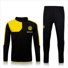 Купить товар2016 Survetement дортмунд футбол обучение 15 16 дортмунд костюм BVB желтые черные спортивные длинные брюки chandal боруссия в категории Майки спортивныена AliExpress.
