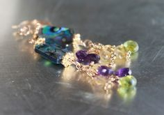 purples, greens, and blues on Etsy, $28.00