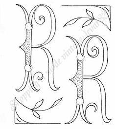 voir phot alphabet 26 lettres BRODERIE ANCIENNE MONOGRAMMES combinables Ac1