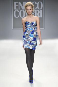 Enrico Coveri Fall Winter 2013 2014 Collection #Coveri #Fashion #print #cocktaildress