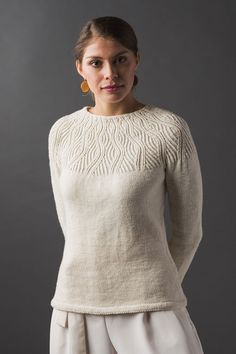 Ravelry: Undulating Lines Pullover pattern by Stella Egidi Knitting Designs, Knitting Projects, Knitting Patterns, Stockinette, Needles Sizes, Pullover Sweaters, Cardigans, Knitting Sweaters, Knitwear