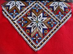 Antique Traditional Norwegian Costume Folk Bunad Bead Art on a Dress