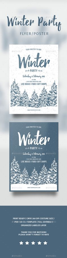 Winter Flyer Template Winter Party Flyer Flyers Winter Party Flyer