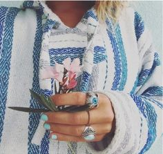 baja hoodie white blue grey