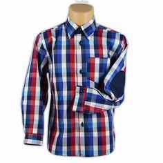 Koszula w kratę z łatami v1-chłopiec Button Down Shirt, Men Casual, Plaid, Mens Tops, Shirts, Women, Fashion, Tunic, Gingham