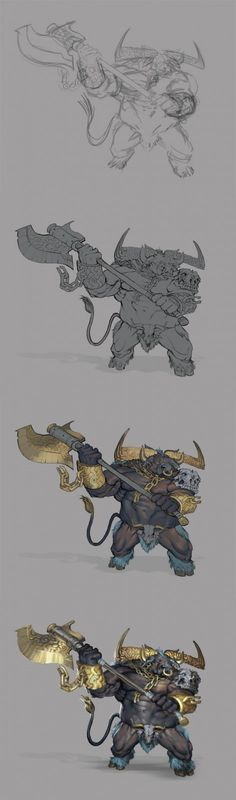 Beastmen Boss 2 Step...   ★ || CHARACTER DESIGN REFERENCES (https://www.facebook.com/CharacterDesignReferences & https://www.pinterest.com/characterdesigh) • Love Character Design? Join the Character Design Challenge (link→ https://www.facebook.com/groups/CharacterDesignChallenge) Share your unique vision of a theme, promote your art in a community of over 25.000 artists! || ★