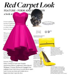 """""""Red Carped Look"""" by leo927522 ❤ liked on Polyvore featuring Michael Antonio, MOFE, Effy Jewelry, Harry Winston and BERRICLE"""