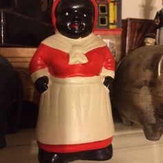 Bank, Aunt Jemima, Ceramic, Perfect For Your Loose Change, Black Americana by PaintedLadyAntiques on Etsy