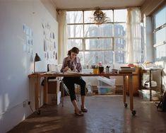 hotphotography:    heisgrizz:    paris2london:    luellaloves:    lovely space  fivedoorsdown:    workspaces:    ETA: photo by Tara Darby for Vogue Pelle. (thanks bolus & singyoursight!)