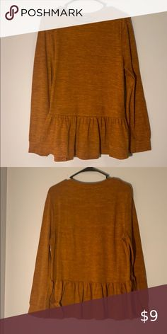 Cute orange fall top Long sleeve autumn shirt. 🍂 SHEIN Tops