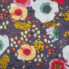 Flora Floral Steel - Sew Crafty