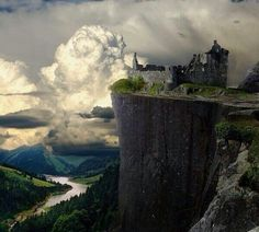abandoned castle on lonely hill