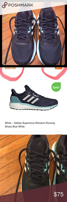 big sale e90ca 0b582 Adidas Supernova Womens Running Shoes Blue White New wo box Adidas  Supernova Blue White