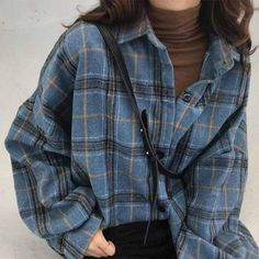 Plaid woollen lumberjack shirt lumberjack plaid shirt woollen source by fandomsandmuffins vintage outfits retro Tumblr Outfits, Mode Outfits, Retro Outfits, Girl Outfits, Casual Outfits, Fashion Outfits, Soft Grunge Outfits, Winter Outfits, Soft Grunge Clothing