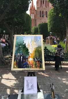 Thomas W Schaller    Demonstration Painting - Day Three. Cathedral at the Jardin. San Miguel - Mexico  Watercolor - 18 March 2016