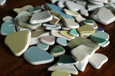 Found these in Vietri, along the Almalfi Coast and adore them.pottery from the sea. Glass Jewelry, Jewelry Shop, Italy Location, Sea Glass Crafts, Sea Glass Beach, Iphone 6 S Plus, Mosaic Projects, Positano, Vintage China