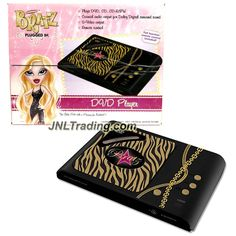 MGA Entertainment Bratz Plugged In DVD Player that Also Plays CD and CD-R/RW with Coaxial Audio Output, S-Video Output and Remote Control