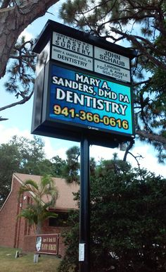 Full Color LED Sign, Mary A. Sanders Dentistry