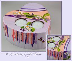 Geschenkkerze Valentinstag - Margerite DW 521 von  Kerzenkunst -  Kreatiwita auf DaWanda.com