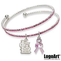 St. Louis Cardinals Breast Cancer Support Bracelet- I WANT THIS!!!!