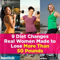 9 Diet Changes Real Women Made to Lose More Than 50 Pounds http://www.womenshealthmag.com/weight-loss/real-women-diet-changes?adbid=10152800150341788
