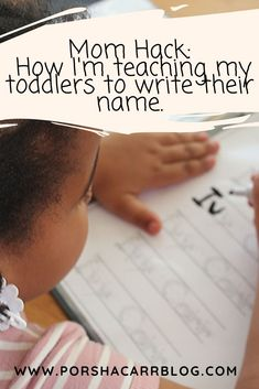 Mom Hack: How I'm teaching my toddlers to write their name. Learning To Write, Fun Learning, Toddler Travel Activities, New Things To Learn, Things To Come, Name Tracing Worksheets, Name Covers, Mom Hacks, Life Is Hard