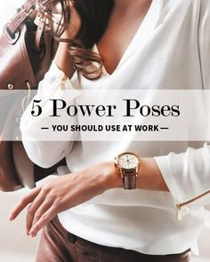 Body Language is everything. 5 Power Poses You Should Use at Work. business ideas #smallbusiness small business ideas wahm ideas