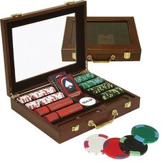 240 NexGen Poker Chip Set with Clear Top Solid Wood Case
