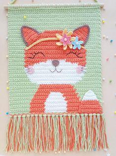 Tapestry Crochet Patterns, Crochet Wall Hangings, Crochet Bedspread, Crochet Hooks, Crochet Home Decor, Unique Crochet, Crochet Bunny, Crochet Basics, Amigurumi Patterns