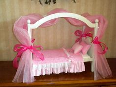 Valentine Pink Canopy Bed American Girl doll