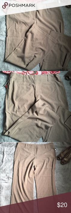Taupe Dress Pants Great brand new taupe dress pants. Don't fit me after some weight loss. AB Studio Pants Trousers