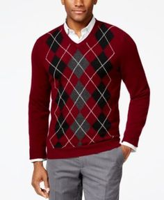 Men's Supima Cotton Argyle Sweater Vest from Lands' End | thinking ...