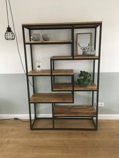 Bij Leen Bakker 499 euro. 180x120x40 Shelf Furniture, Funky Furniture, Pinterest Home Decor Ideas, Plywood Projects, Wood Table Design, Bookshelves In Living Room, Bookshelf Design, Minimalist Home, Home Interior Design