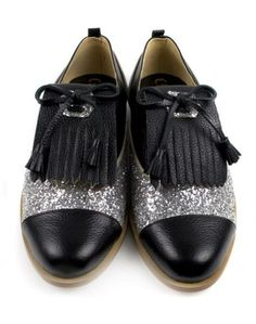 Leather Oxford Black Shoes. via The Cools