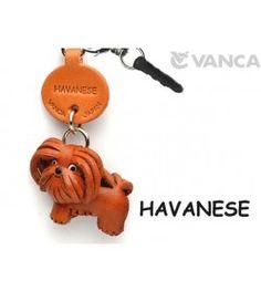 Havanese Leather Dog Earphone Jack Accessory