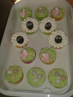 Lovely little cup cakes for easter