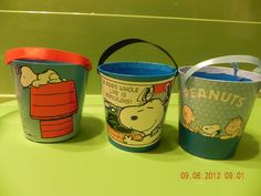 Peanuts Snoopy Paper Bucket Pail Party Loot Bags Collection | eBay