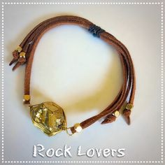 Gold Nugget Leather Bracelet NWOT ~ Adjustable.  This makes a good bundle piece item. Bundle and get a discount *PLUS* one shipping fee! Boutique Jewelry Bracelets