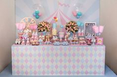 Carnival Themes, Festa Party, Ideas Para Fiestas, Circus Party, 2nd Birthday Parties, Candy Colors, Birthday Decorations, First Birthdays, Decorative Boxes